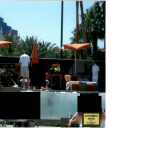 Reserved area for Jimmy Dimora's group at Bare Pool at Mirage Hotel
