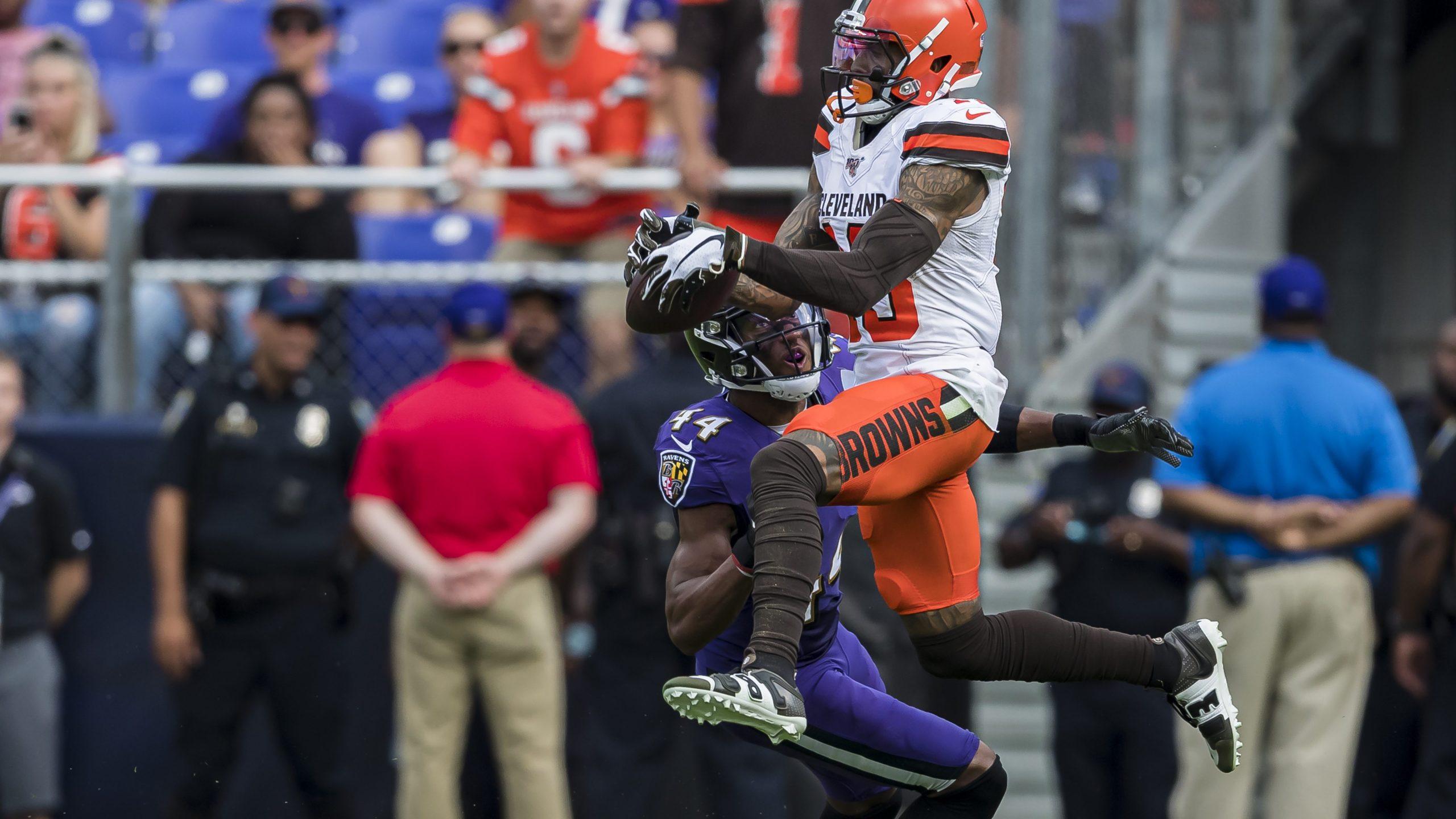 Browns Wr Odell Beckham Jr Fined 14k For Fight With Ravens