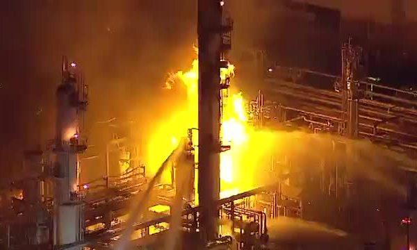 LA refinery fire