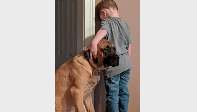 Peyton and his best friend, Dash (courtesy: Jillian Smith)