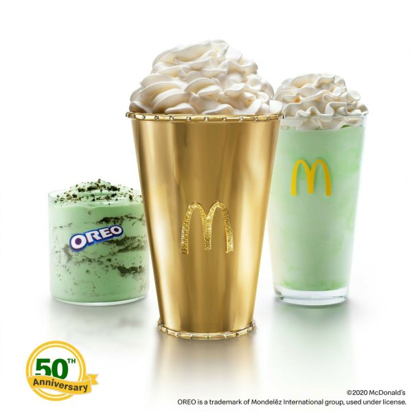 McDonald's auctioning off a 'Golden Shamrock Shake' cup