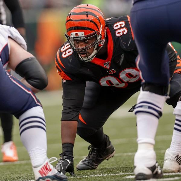 Andrew Billings #99 of the Cincinnati Bengals