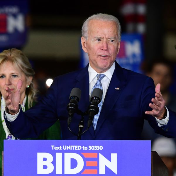 Democratic presidential hopeful former Vice President Joe Biden