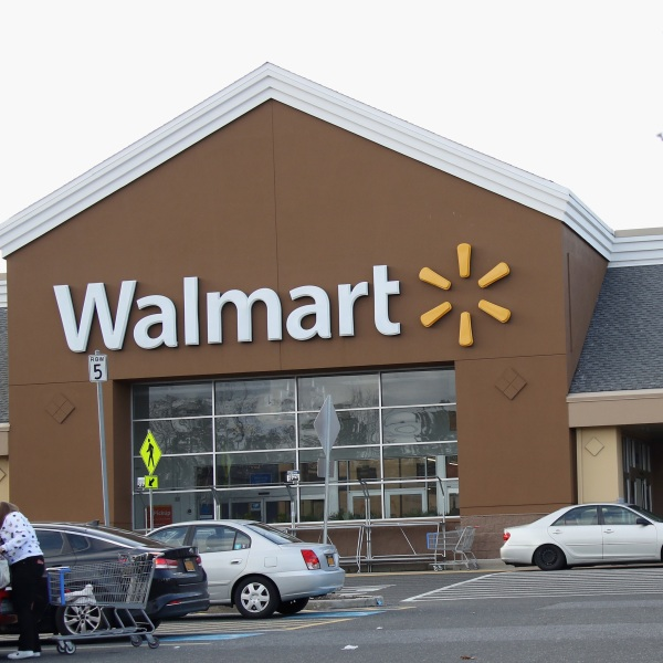 An image of the sign for Walmart