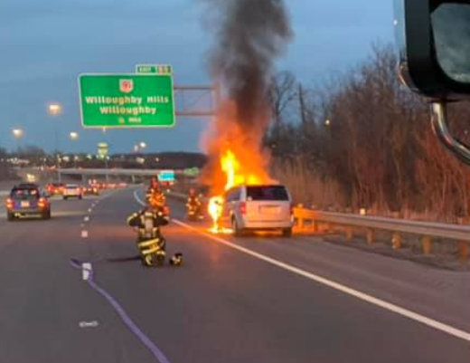 Willoughby Hills car fire