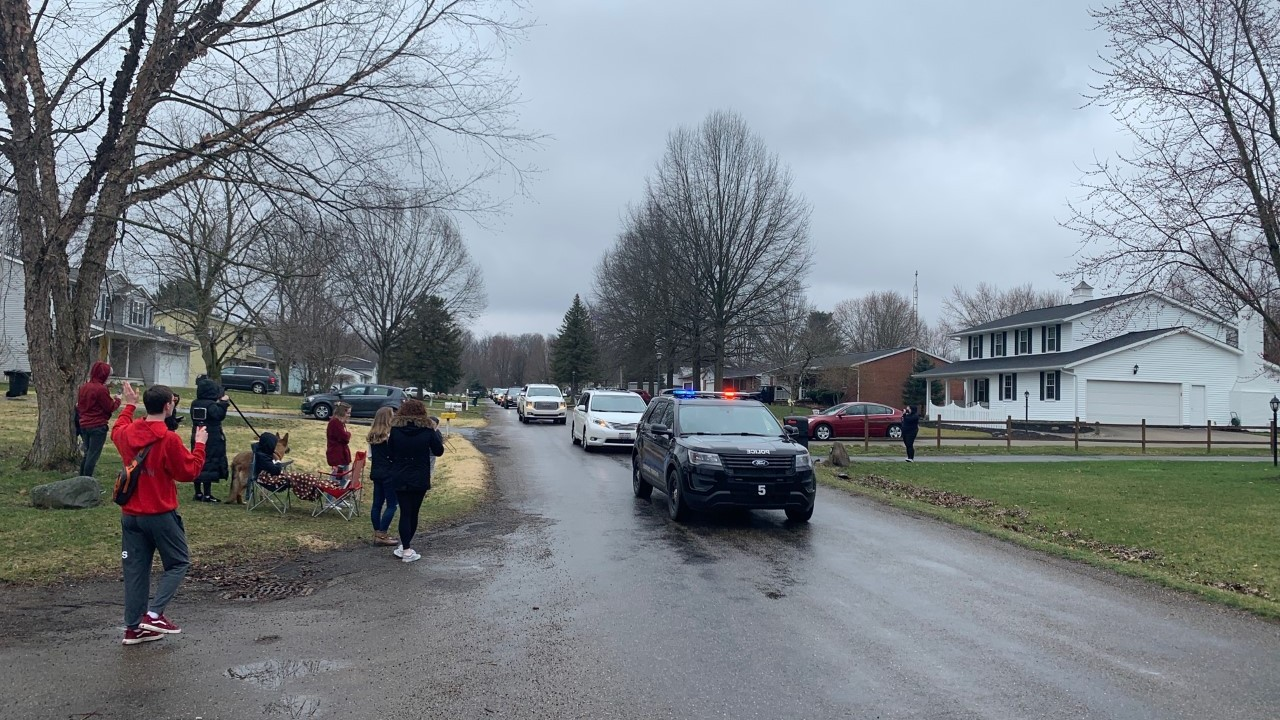 Parade in Canal Fulton gives teachers chance to see students before stay-at-home order goes into effect 1