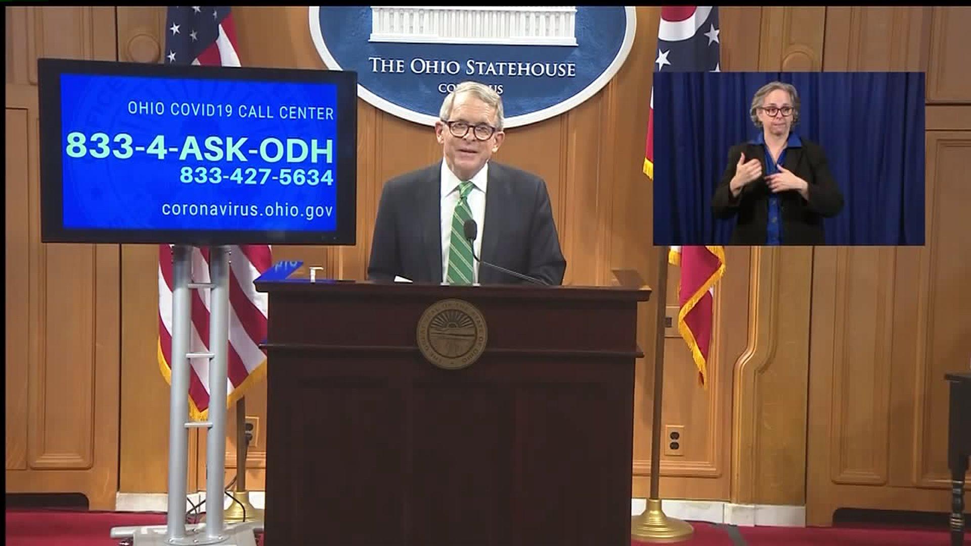 Ohio Gov Dewine Provides Covid 19 Update