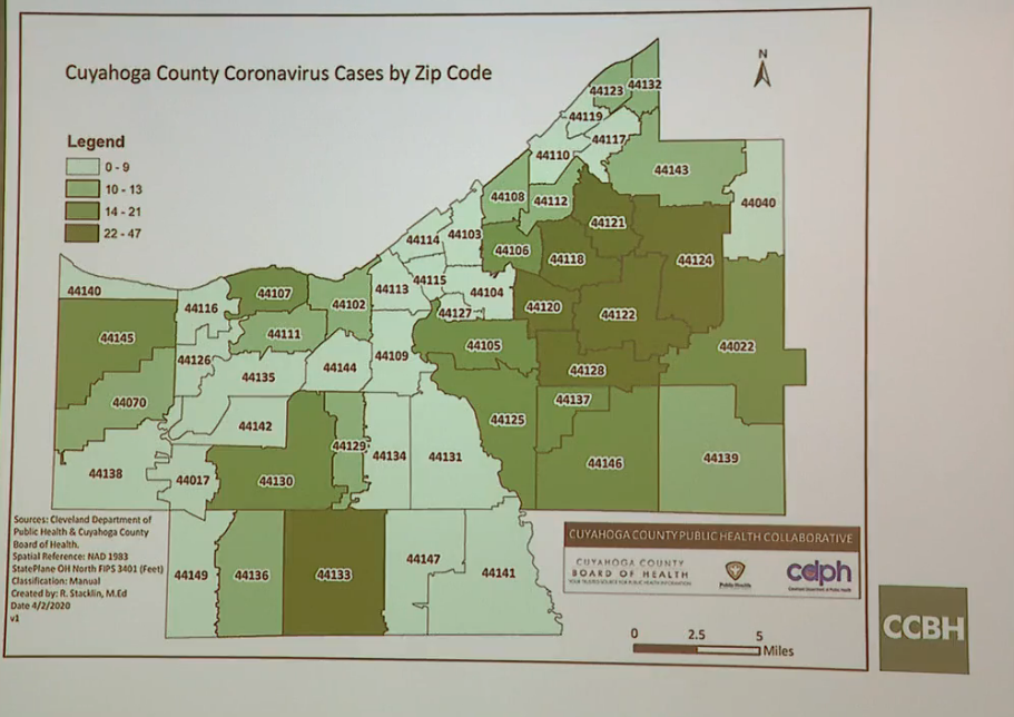 Cuyahoga County releases updated map of COVID-19 cases by ...