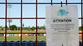 A sign announces that Phillies Florida Operations