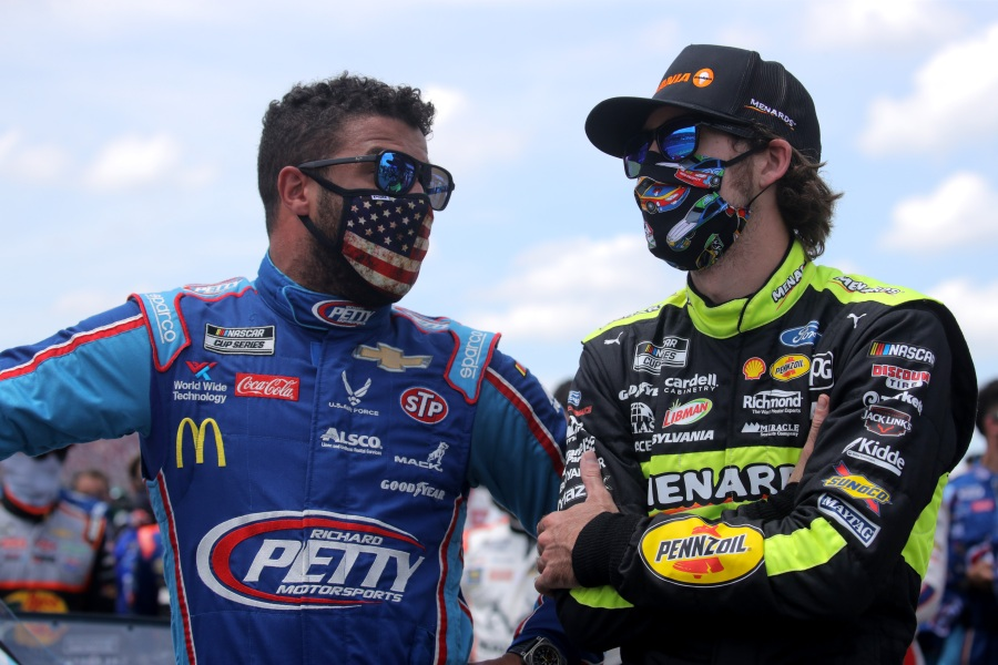 Bubba Wallace, driver of the #43 Victory