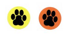 dog paw stickers