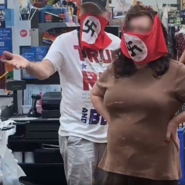 Walmart said it has banned a couple from its stores after they were seen on video wearing face coverings with swastikas as they shopped at one of its Minnesota locations.