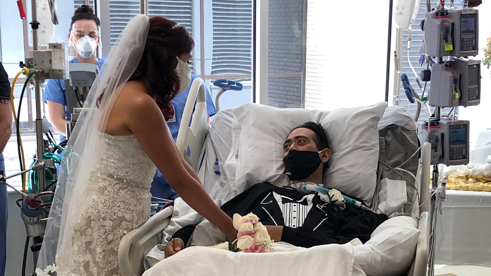 Nurses at Texas Hospital Organize Coronavirus Patient's Wedding To Help Lift His Spirits