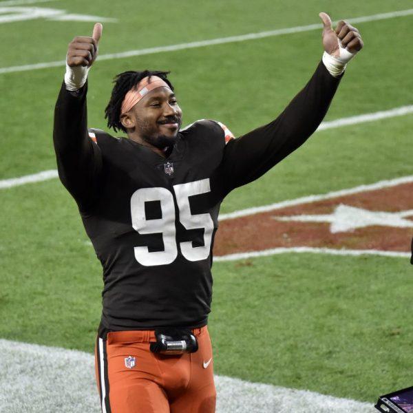Myles Garrett #95 of the Cleveland