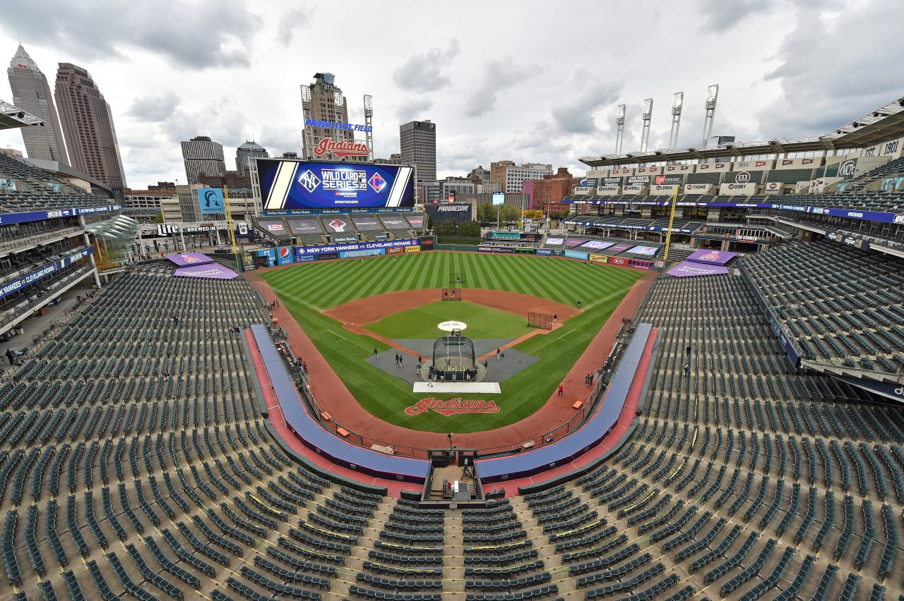 A general view of Progressive Field