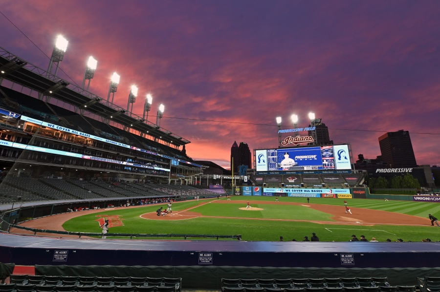 A general stadium view during Game One of the American League Wild Card Series