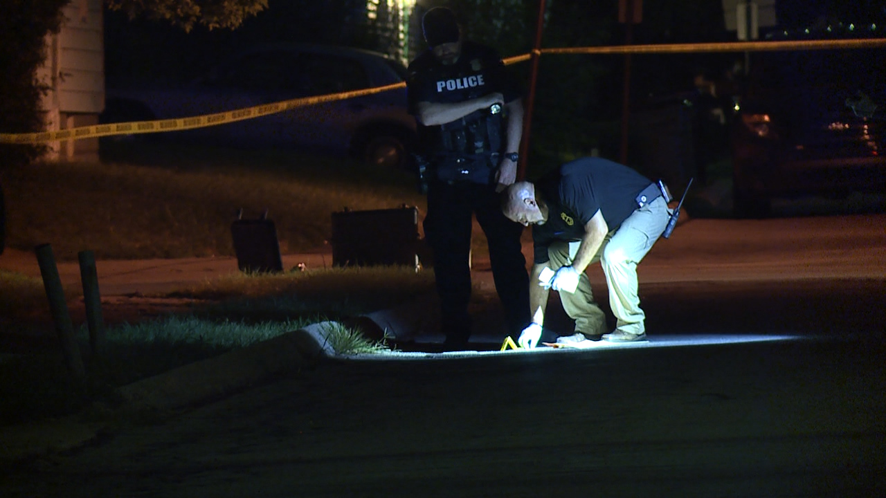 Large Crime Scene In Garfield Heights Where Police Find Man Shot In The Street