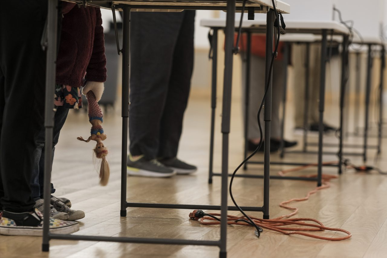 Voters cast their ballots on Election Day