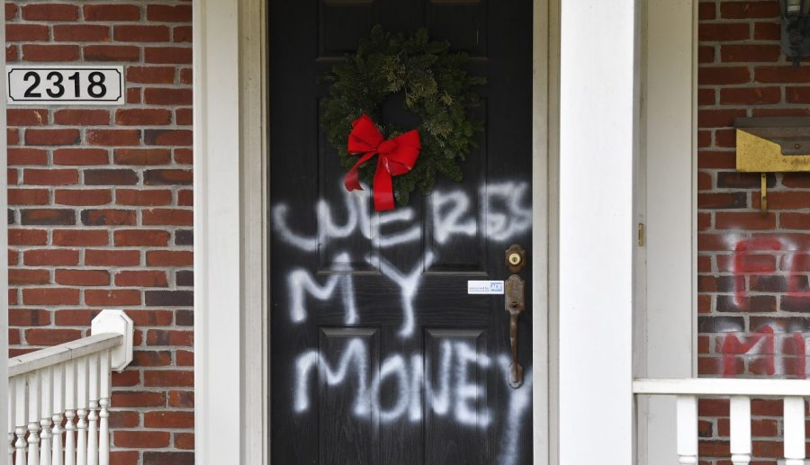 Where's my money': Mitch McConnell's house also vandalized, along with  Nancy Pelosi's
