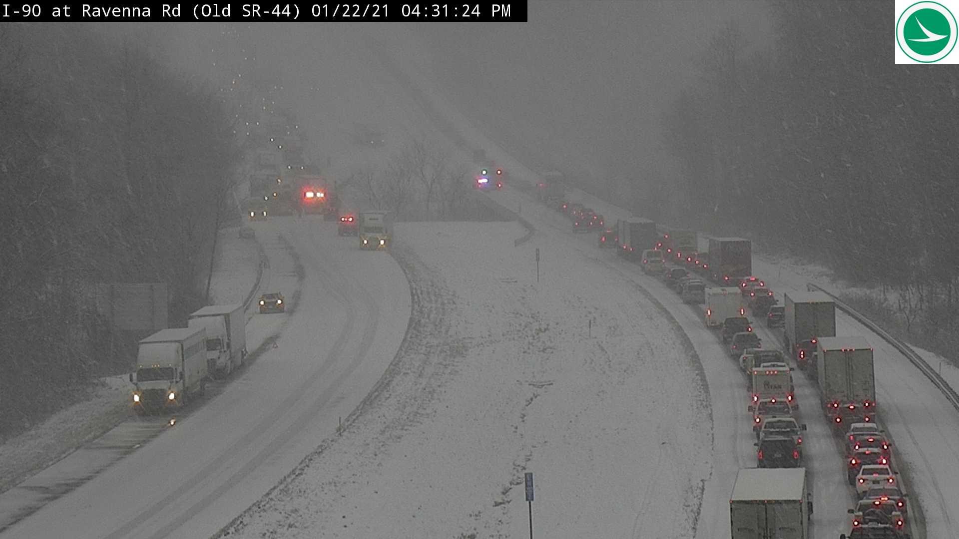 Crash on I-90 (courtesy: ODOT)
