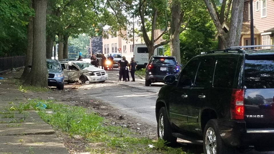 East Cleveland Police chase near Nela and Terrace