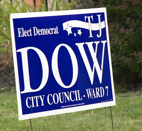 TJ Dow campaign sign