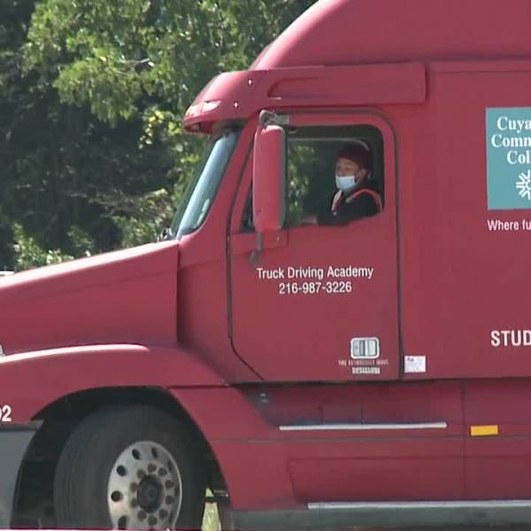 Cuyahoga Community College truck driving academy