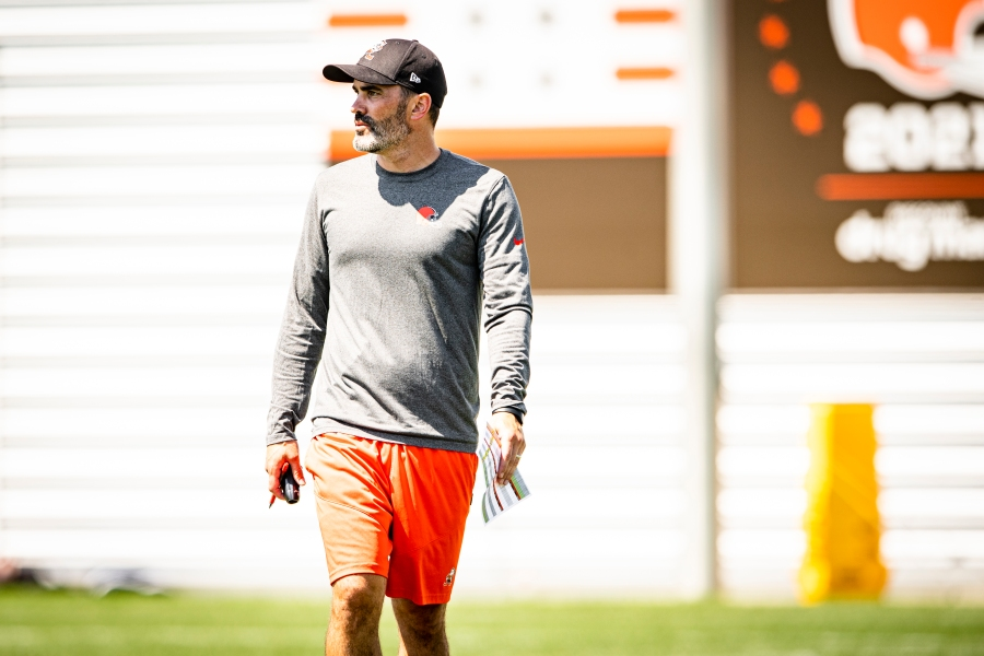 Head Coach Kevin Stefanski during the fifth day of training camp on August 2, 2021.
