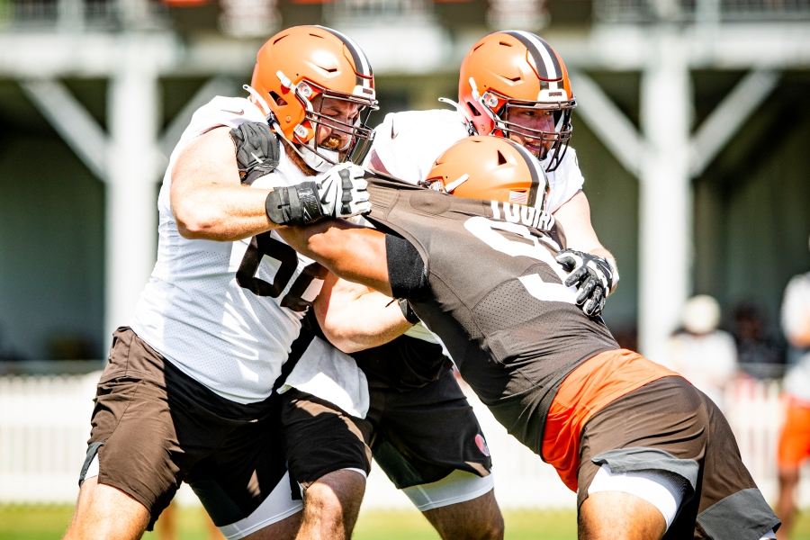 Guard Blake Hance (62) during the fifth day of training camp on August 2, 2021.