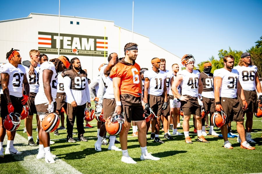 The team during the fifth day of training camp on August 2, 2021.
