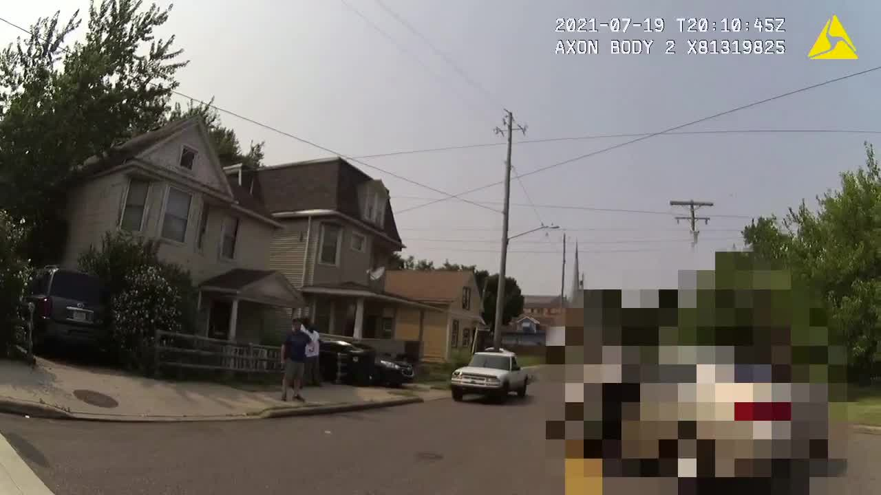 Undercover Cleveland police car shot up