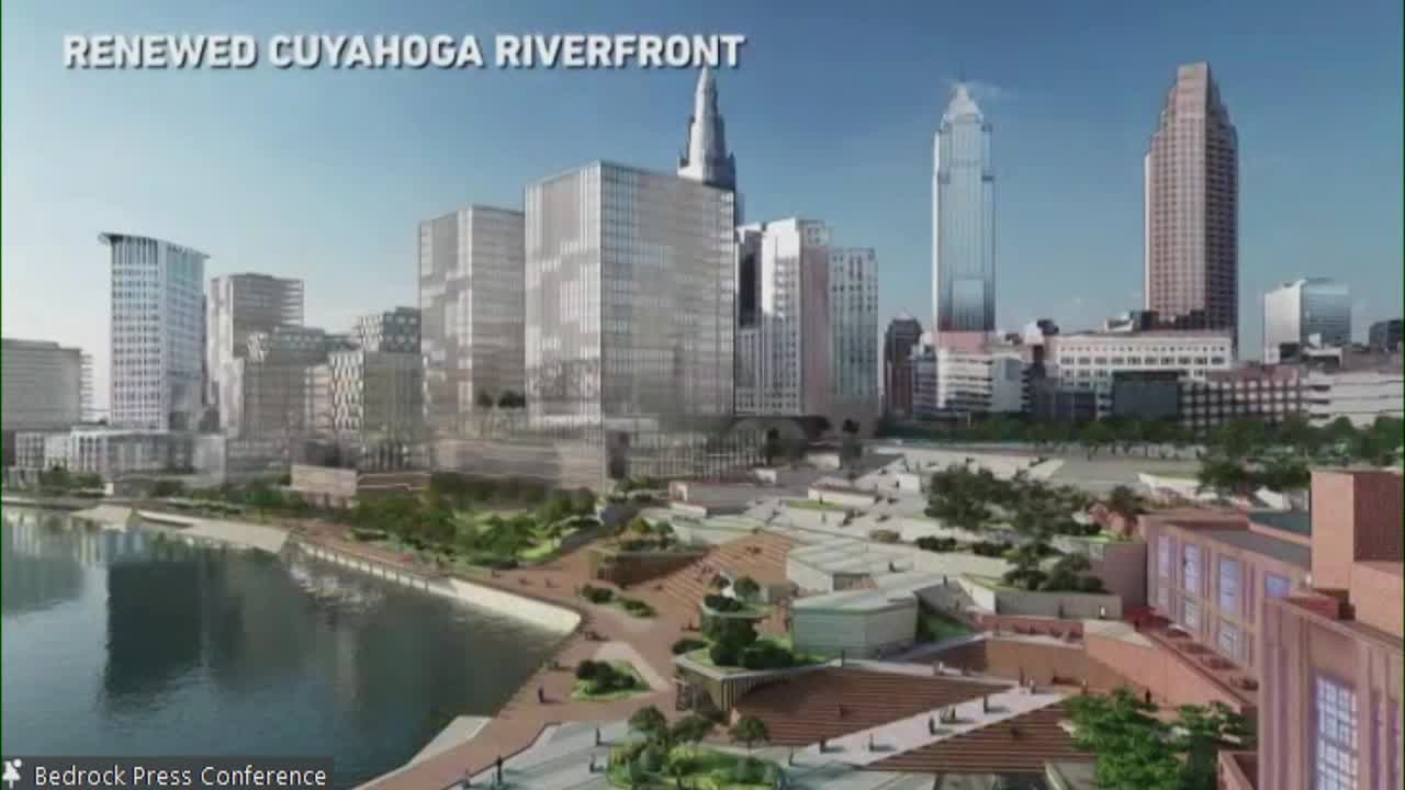 Renewed Cuyahoga Riverfront rendering