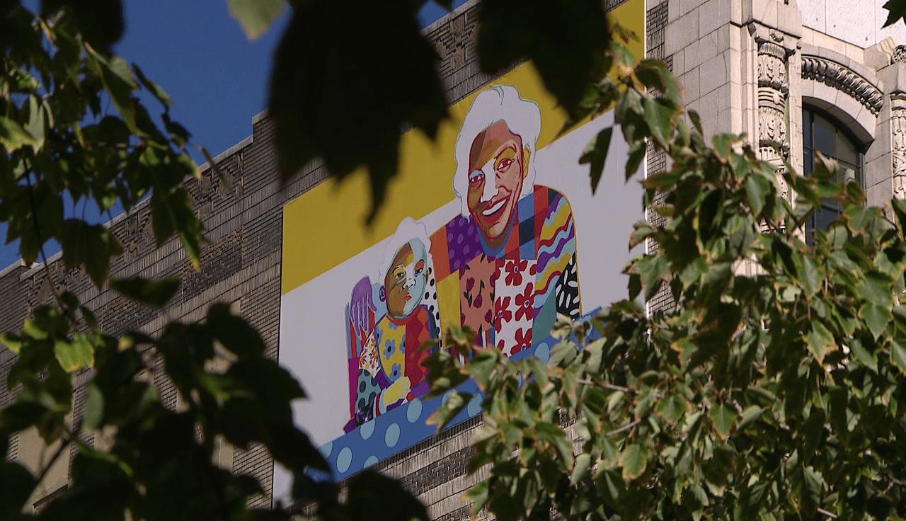 Myles Garrett grandmother mural