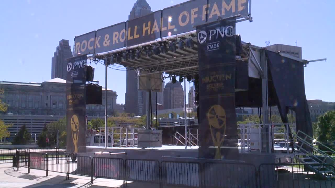 Rock and Roll induction ceremony stage
