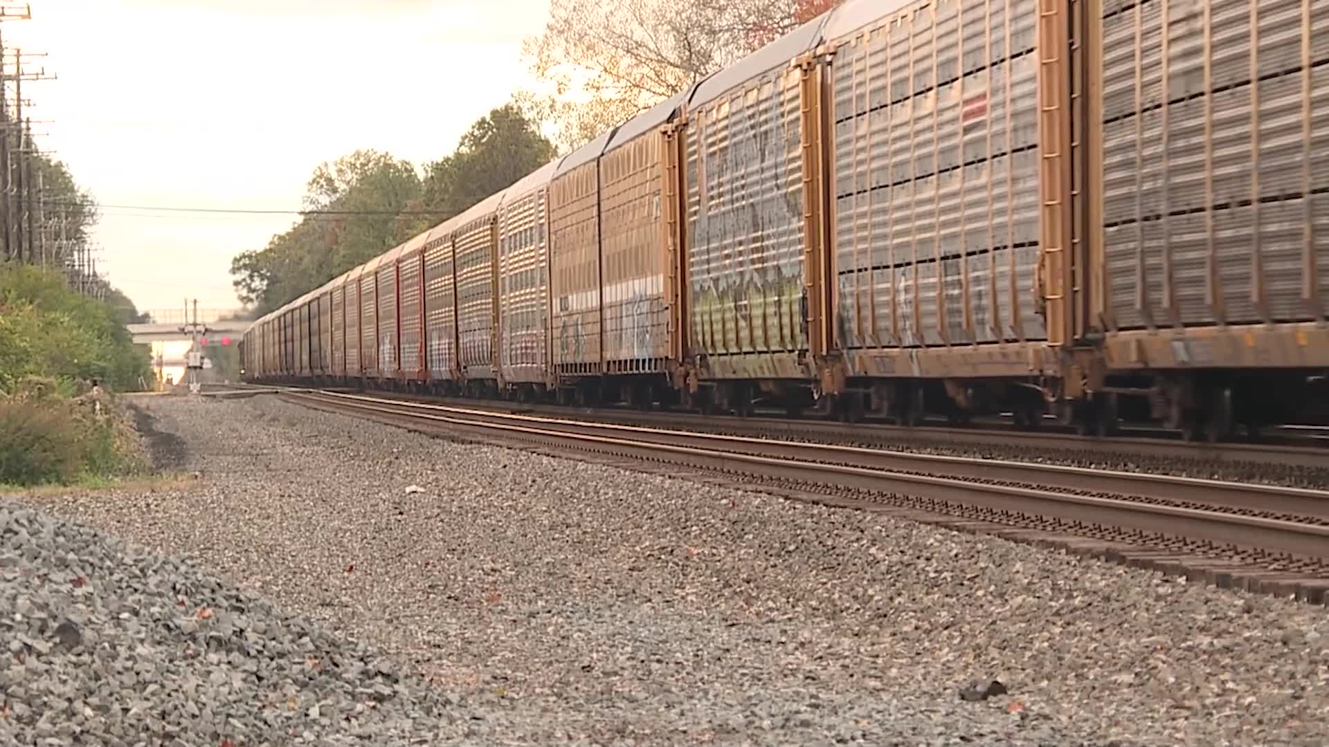 Olmsted Falls freight trains