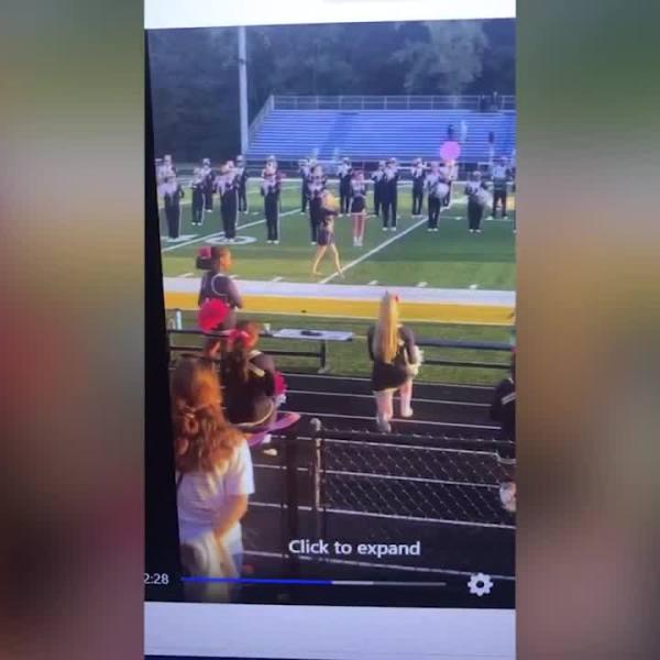 Wickliffe high school cheerleaders kneeling