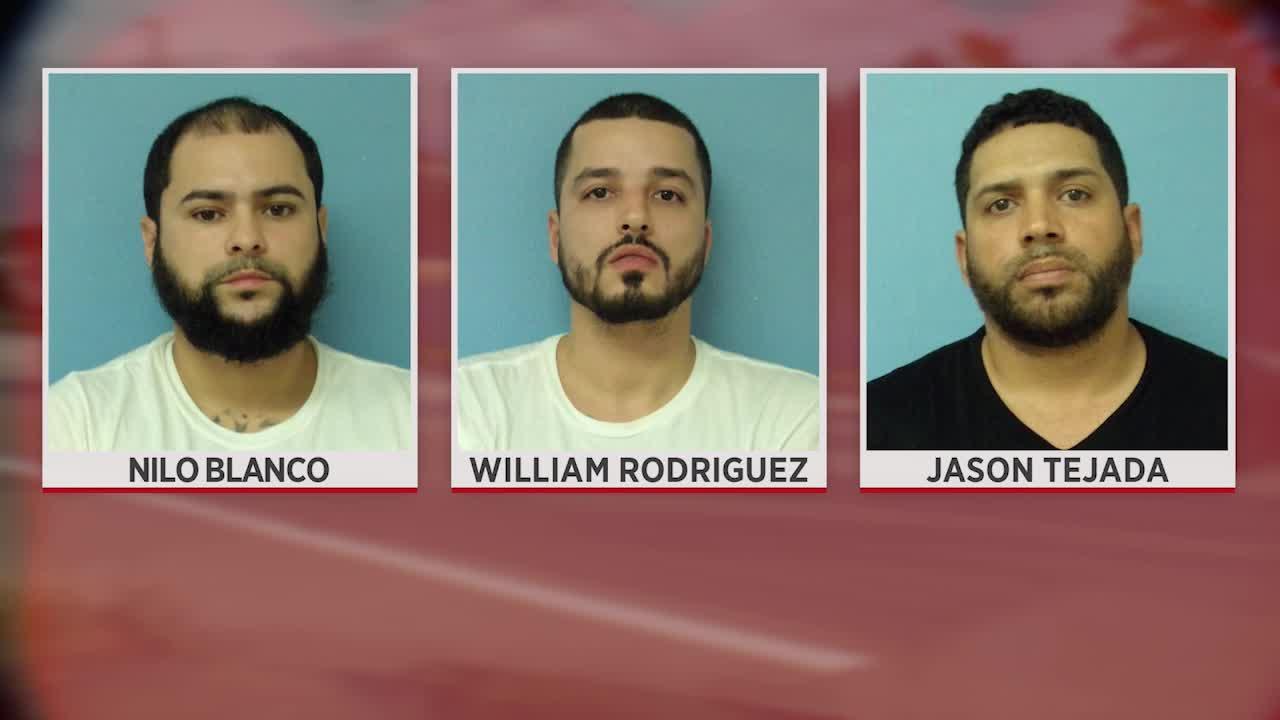 Nilo Blanco (right), William Rodriguez and Jason Tejada (Photos courtesy: Parma police)