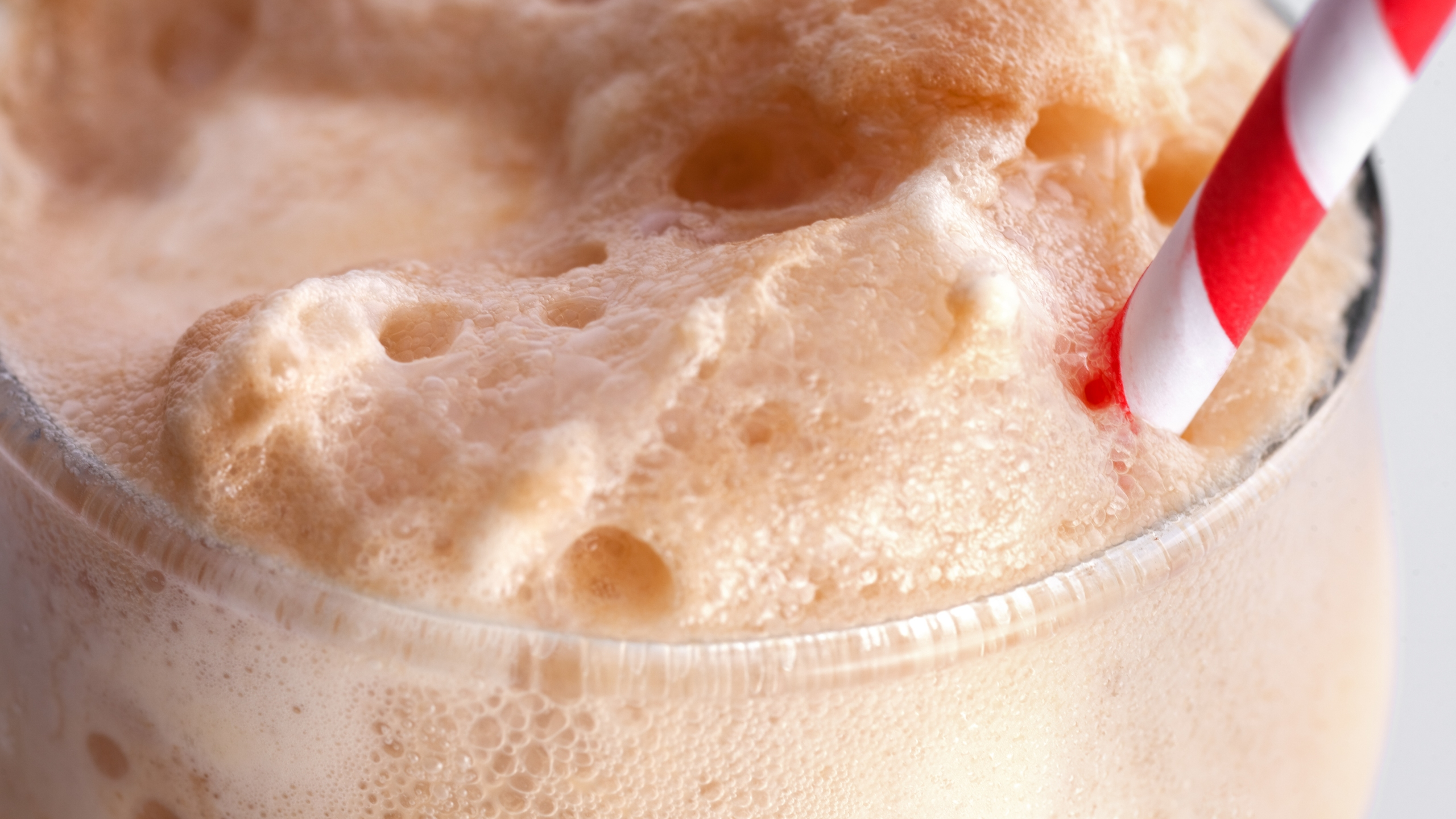 Close up of the foam on a root beer float